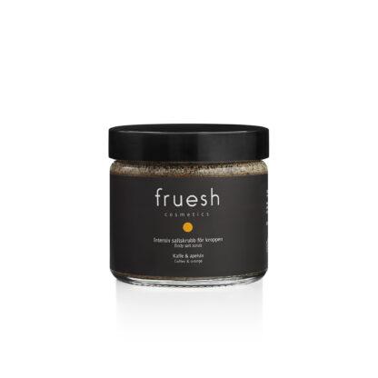 Fruesh Cosmetics Intensiv saltskrubb för kroppen Kaffe och apelsin