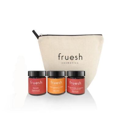 Travel Set Apelsin med tre produkter och en necessär